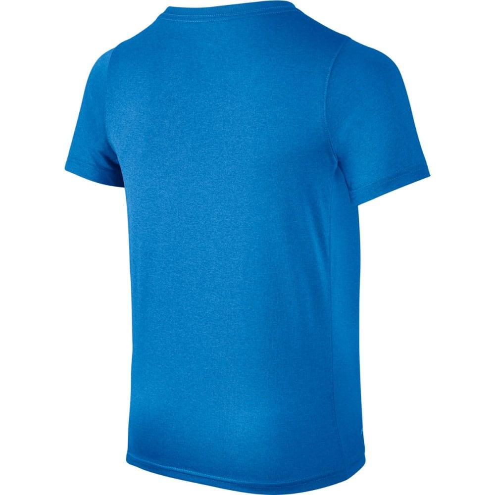 NIKE Big Boys' Dri-FIT Training Short-Sleeve Tee - PHOTO BLUE/ ORG 407