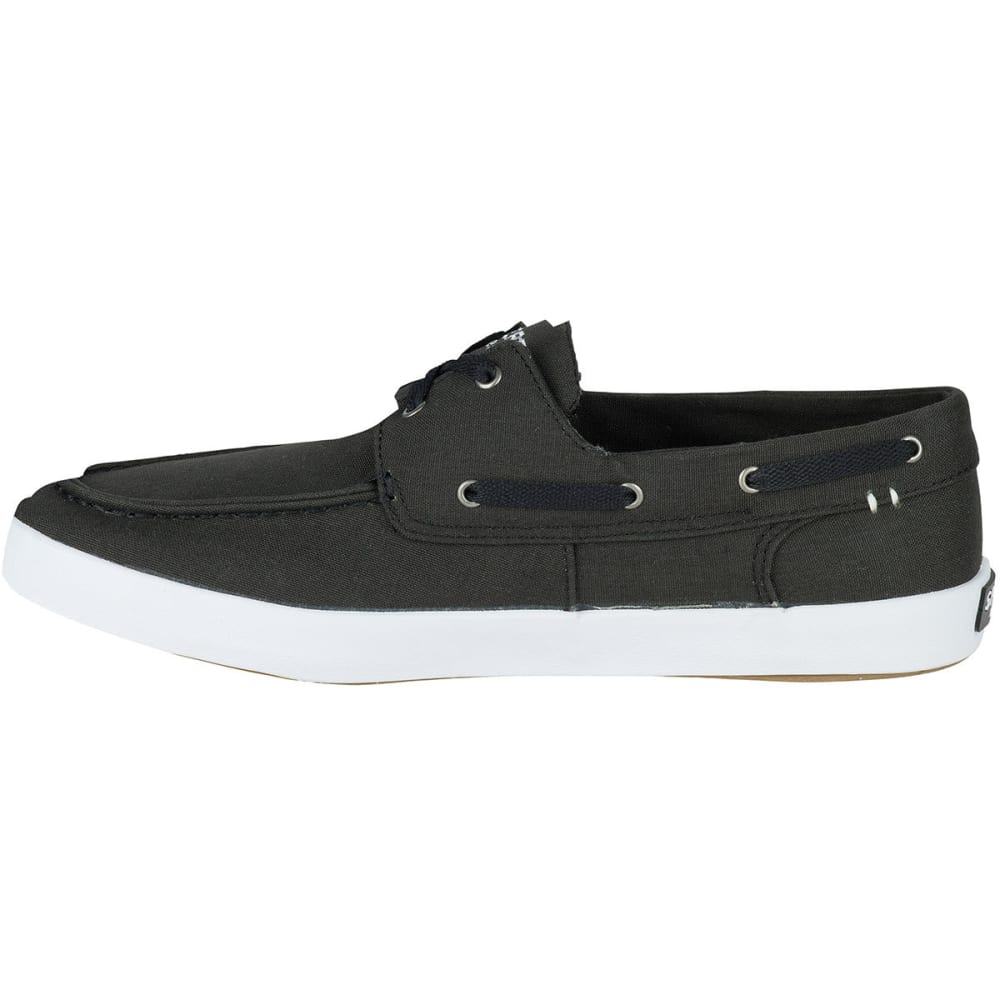 SPERRY Men's Wahoo 2-Eye Canvas Boat Shoes, Saturated Black - BLACK