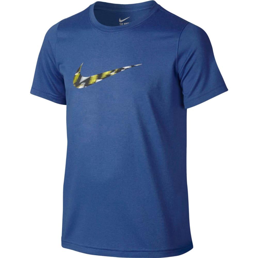 NIKE Boys' Dri-Fit Warpspeed Swoosh Short Sleeve Tee - COMET BLUE 478