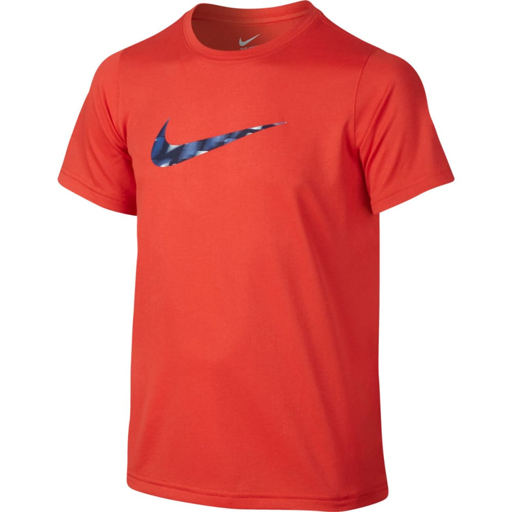 NIKE Boys' Dri-Fit Warpspeed Swoosh Short Sleeve Tee - MAX ORANGE 852