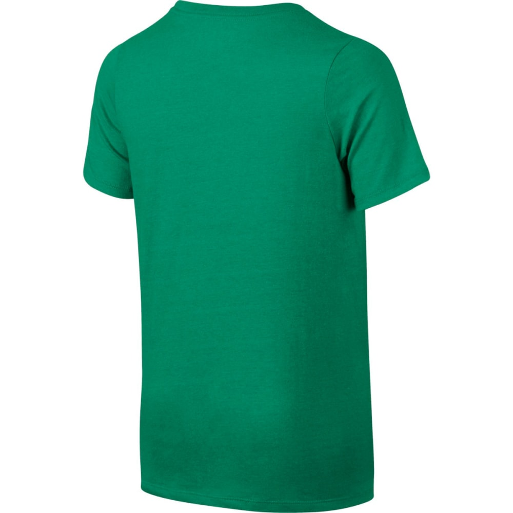 NIKE Big Boys' NSW Futura Logo Short-Sleeve Tee - STADIUM GREEN 324