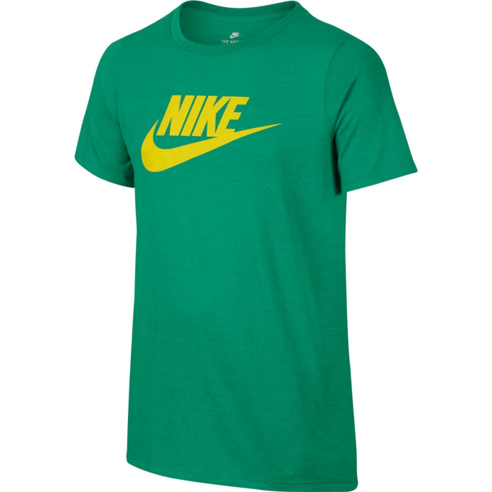 NIKE Big Boys' NSW Futura Logo Short-Sleeve Tee S