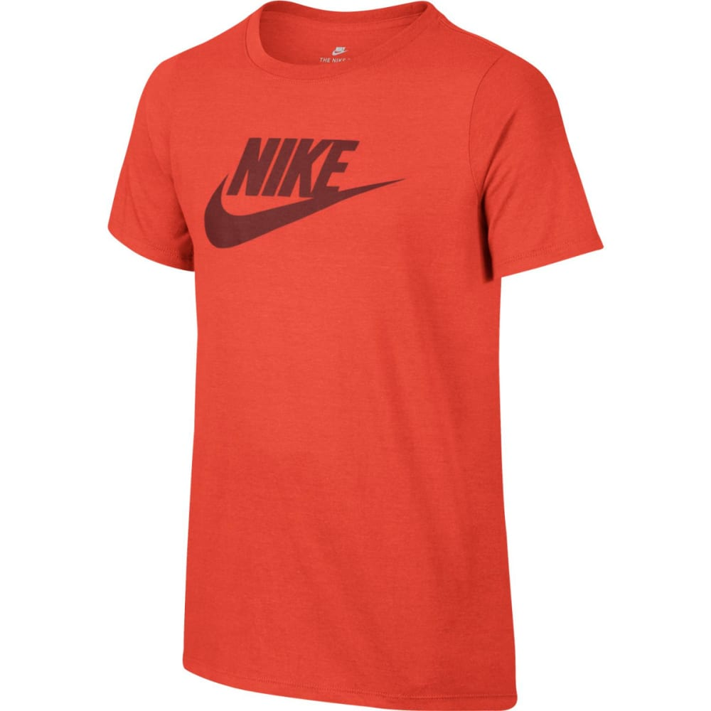 NIKE Big Boys' NSW Futura Logo Short-Sleeve Tee - MAX ORANGE 852