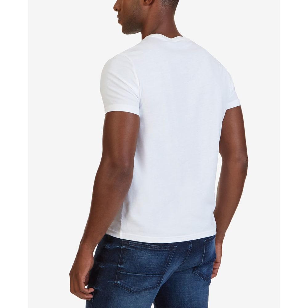 NAUTICA Men's Solid Short Sleeve Crewneck Tee - WHITE-1BW