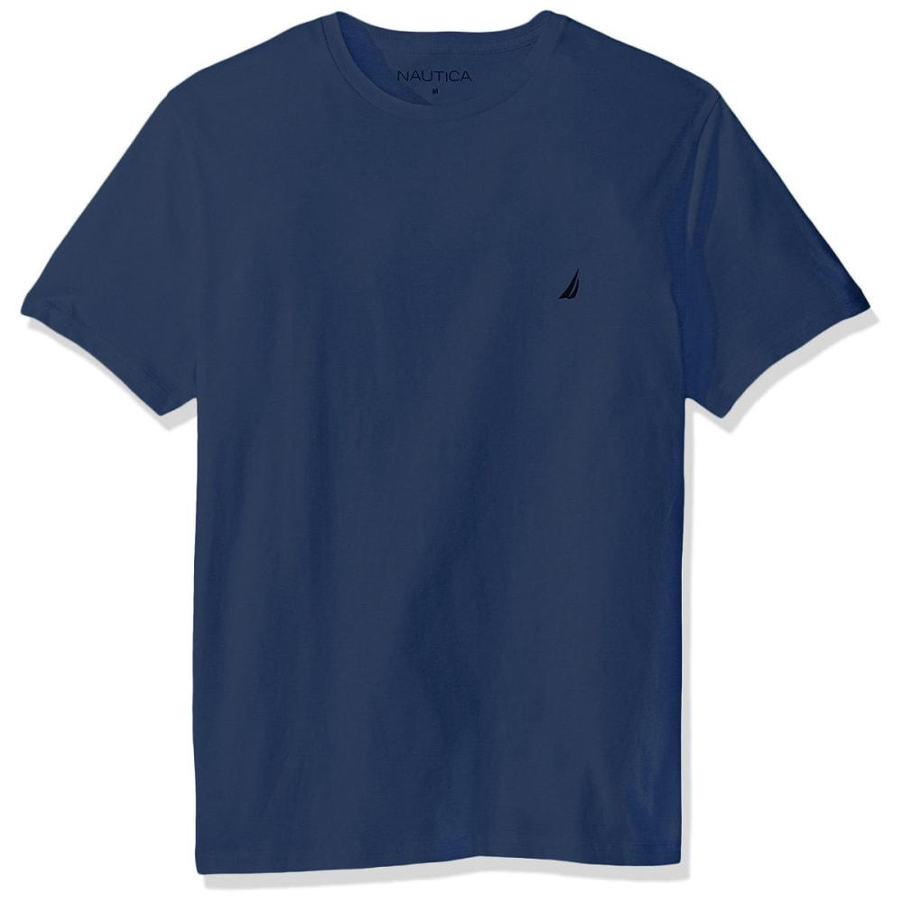 NAUTICA Men's Solid Short Sleeve Crewneck Tee M