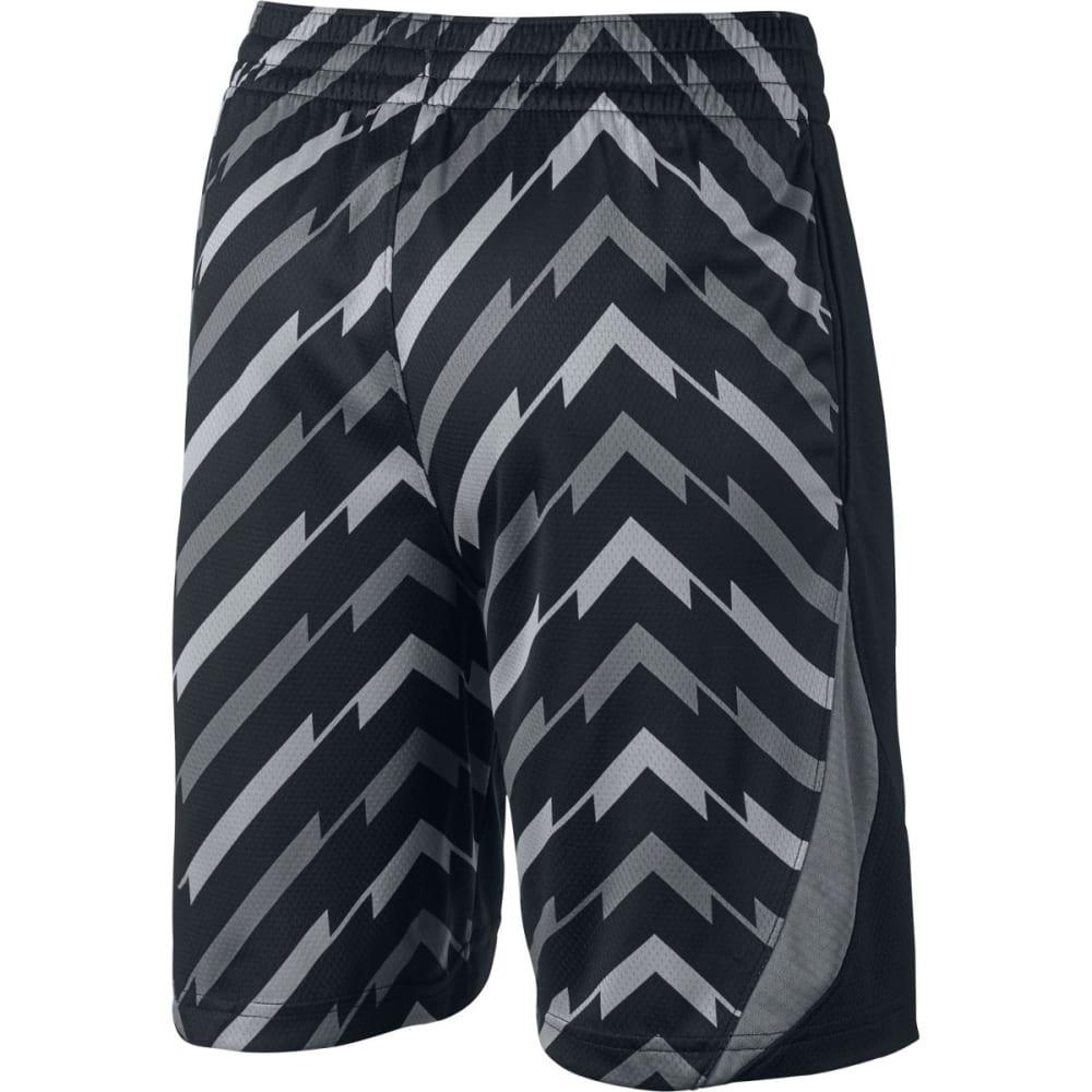 NIKE Big Boys' 8 in. Dri-FIT Avalanche Wraparound Print Basketball Shorts - BLACK/COOL GREY 010