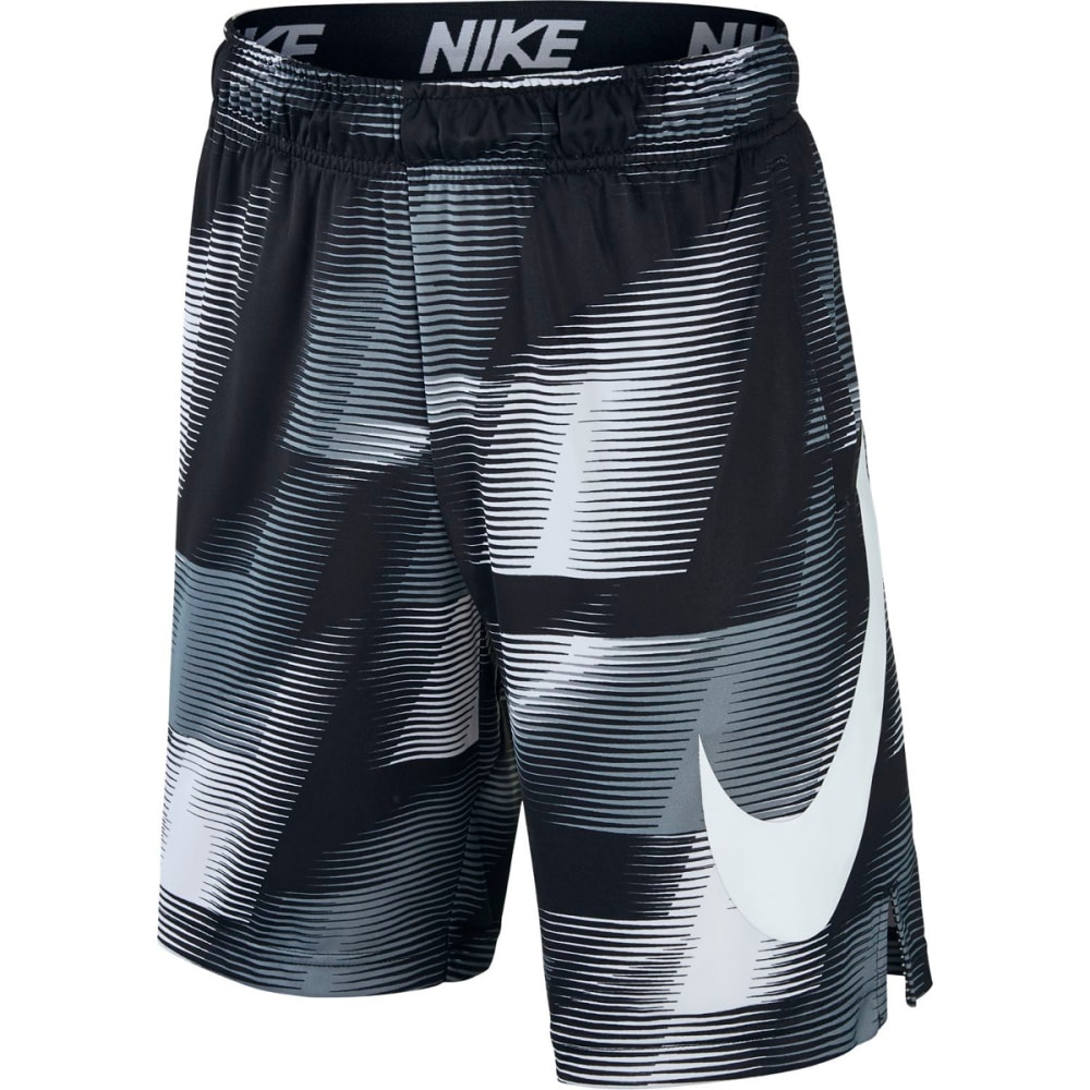 NIKE Big Boys' 8 in. Dry AOP Printed Shorts - BLACK/WHITE 010
