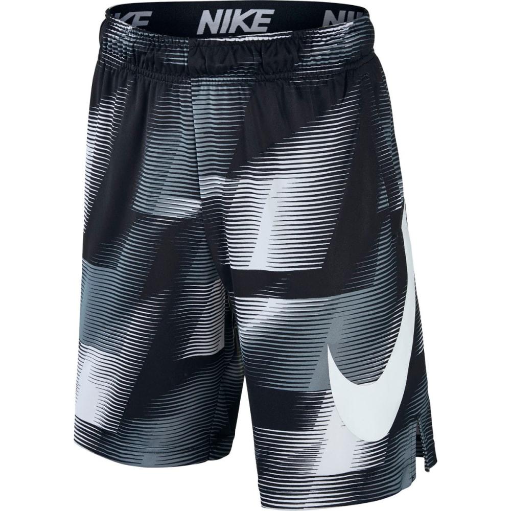 NIKE Big Boys' 8 in. Dry AOP Printed Shorts - BLACK/WHITE 010