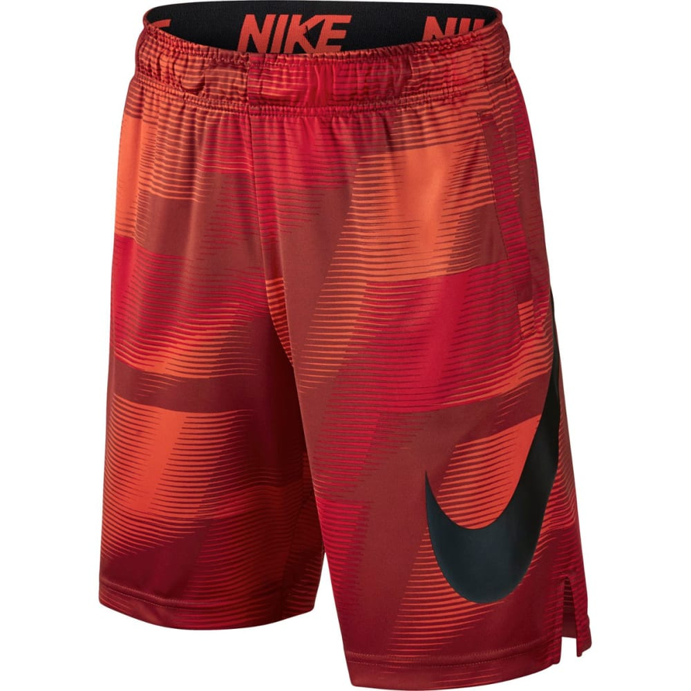 NIKE Big Boys' 8 in. Dry AOP Printed Shorts - DARK CAYENNE 674