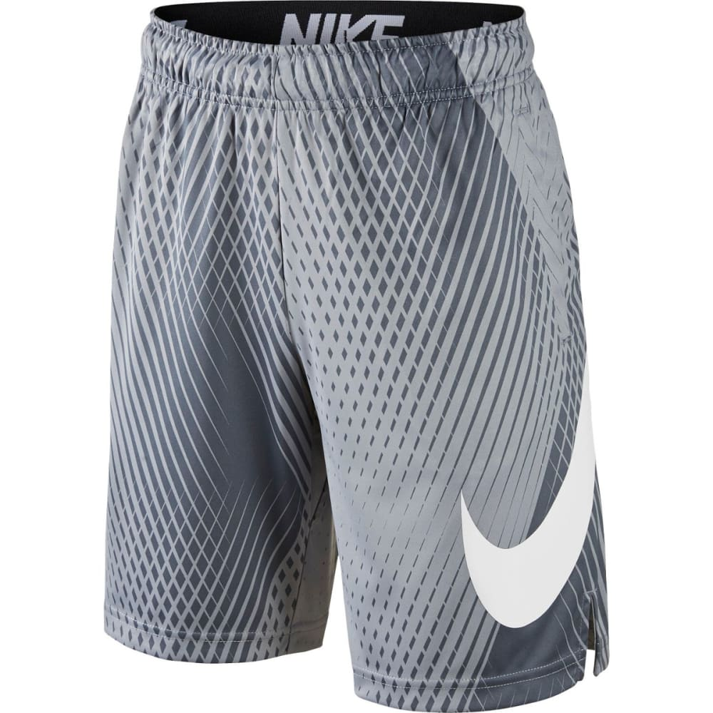 NIKE Big Boys' 8 in. Dry AOP3 Shorts - WOLF GREY 012