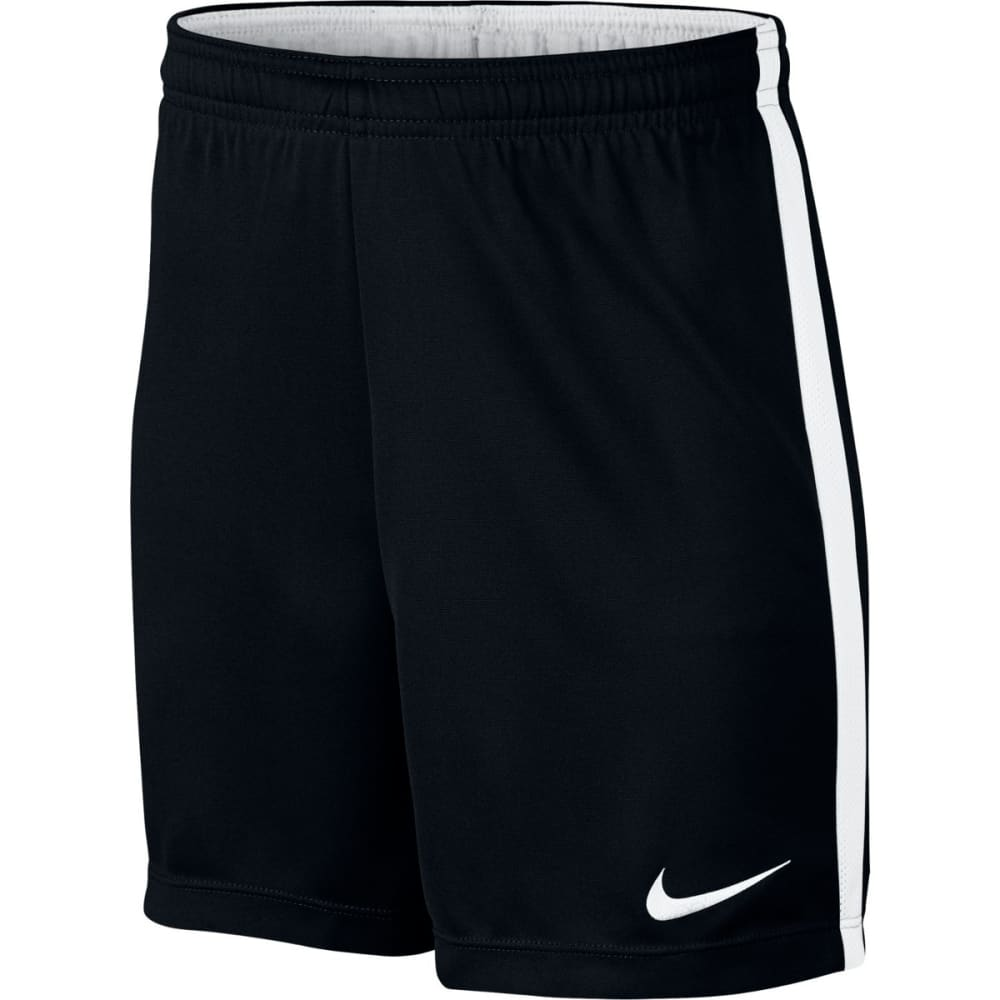NIKE Kids' Dry Academy Soccer Shorts - BLACK/WHITE 010