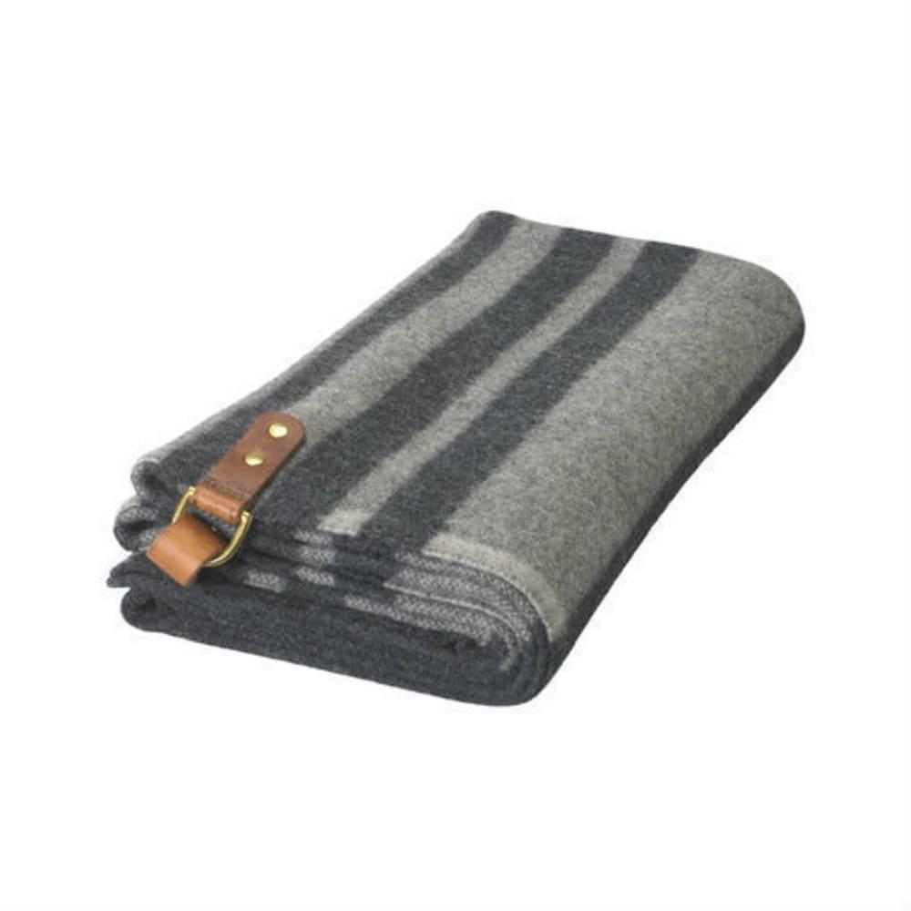 WOOLRICH Fireside II Wool Blanket Poncho - DARK GREY