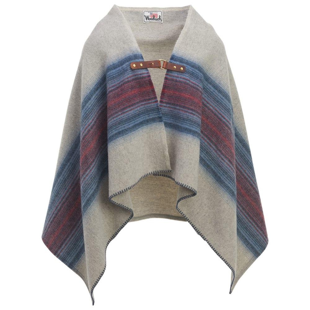 WOOLRICH Fireside II Wool Blanket Poncho ONE SIZE