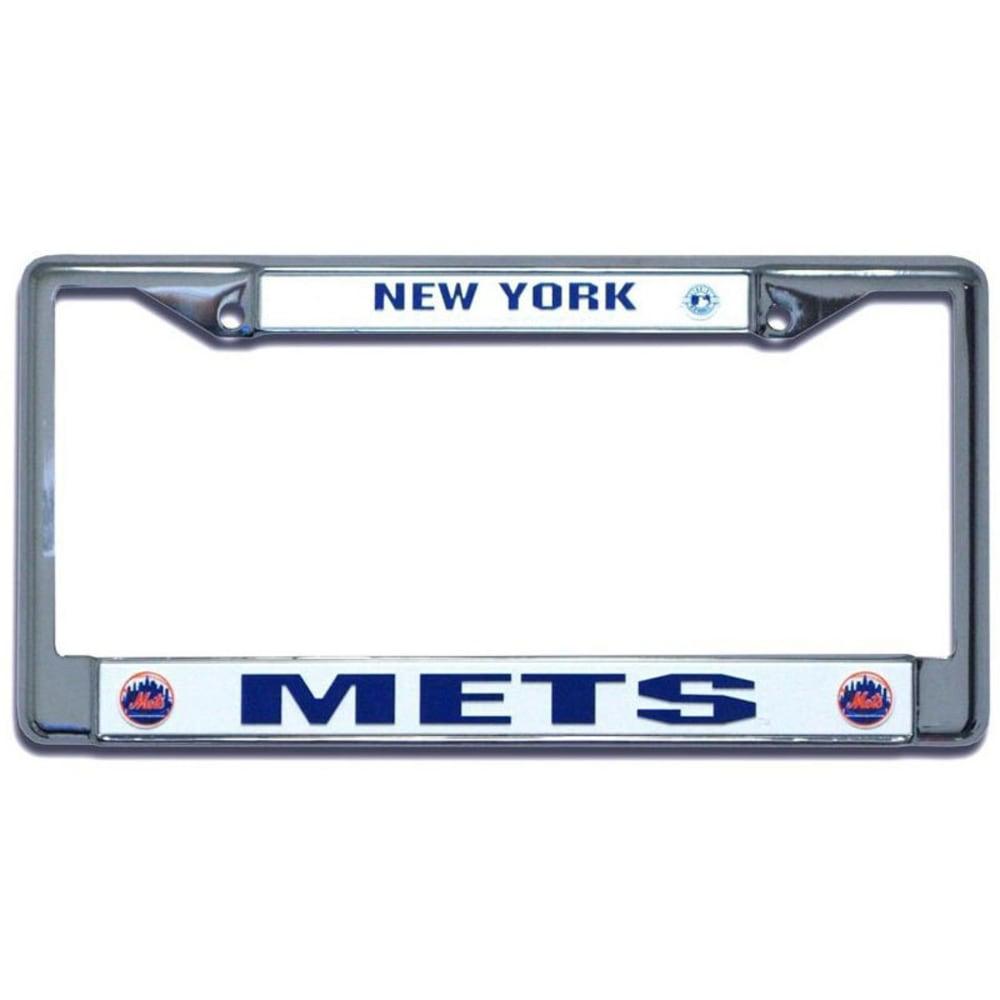 NEW YORK METS Chrome License Plate Frame - ROYAL BLUE