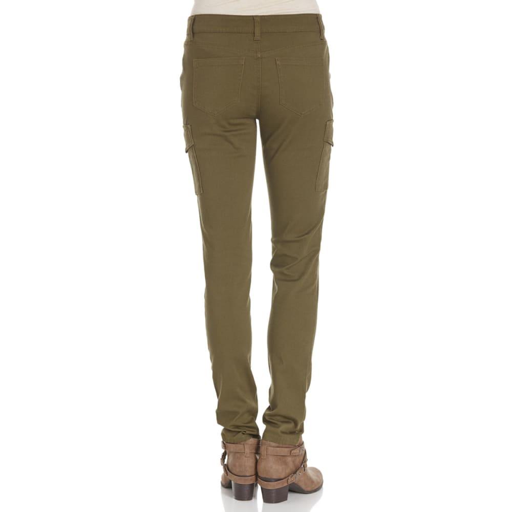 WAX JEAN Juniors' Cargo Pocket Twill Pants - OLIVE WASH