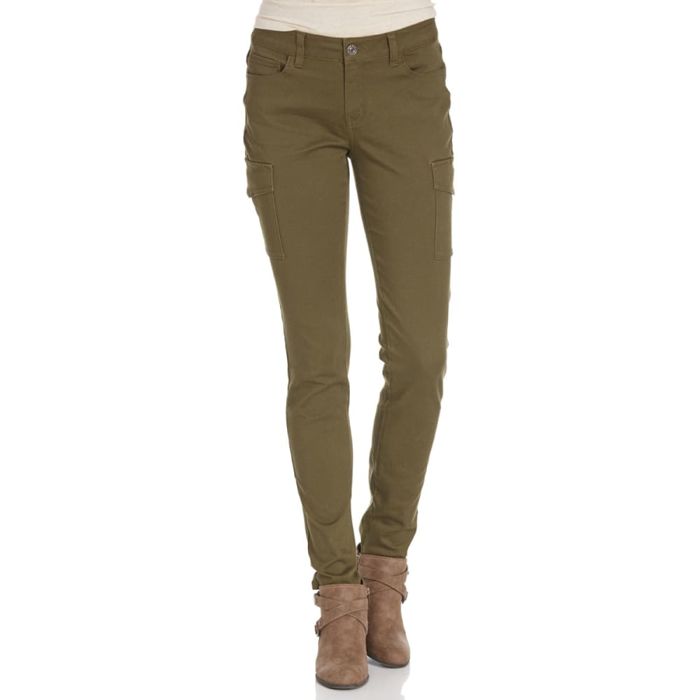 WAX JEAN Juniors' Cargo Pocket Twill Pants - OLIVE WASH