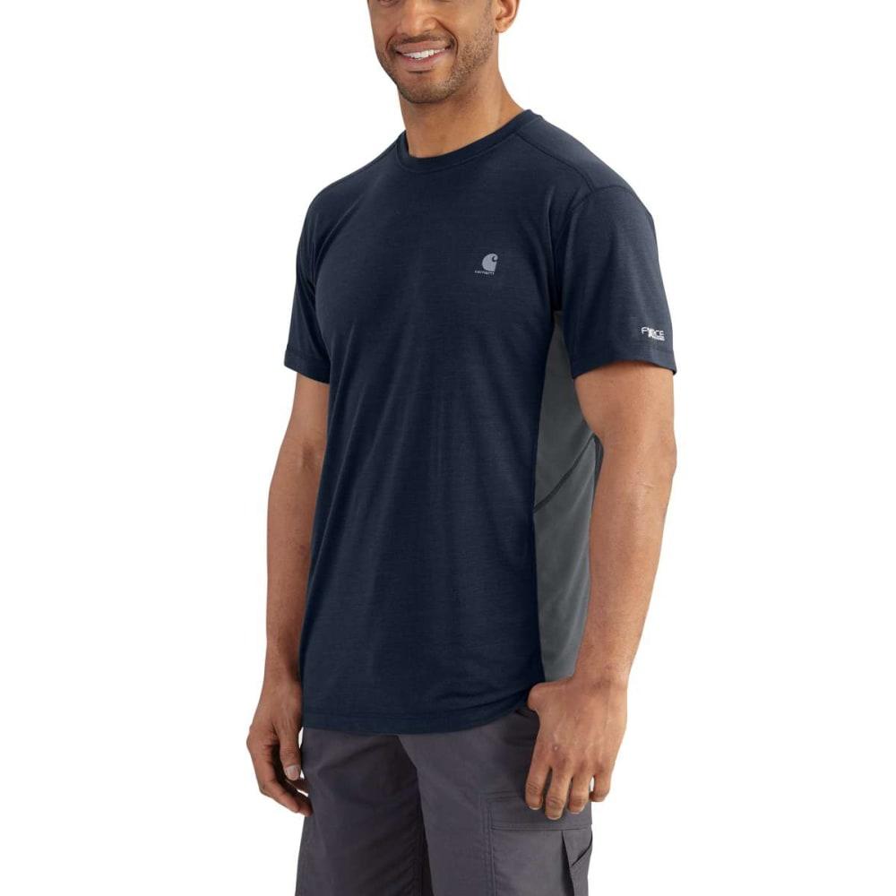 6a3b73c5 CARHARTT Men's Force Extremes Short-Sleeve Tee - NAVY/BLUESTONE