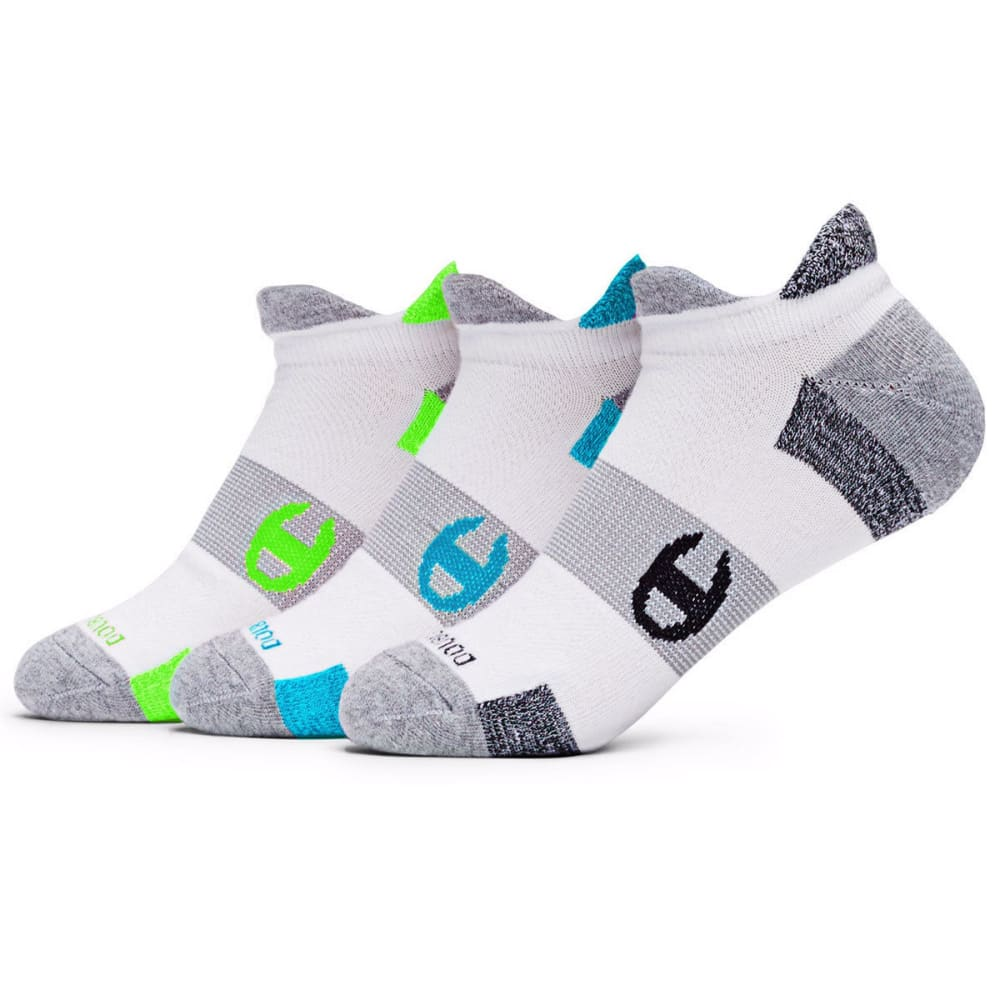 CHAMPION Women's Heel Shield Socks, 2 Pack - BLUE/GREEN
