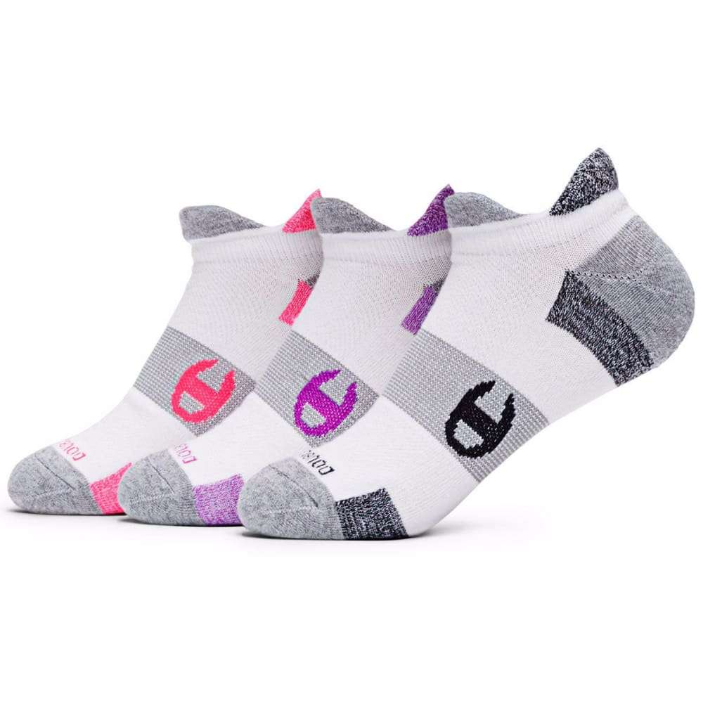 CHAMPION Women's Heel Shield Socks, 2 Pack - PINK/PURPLE