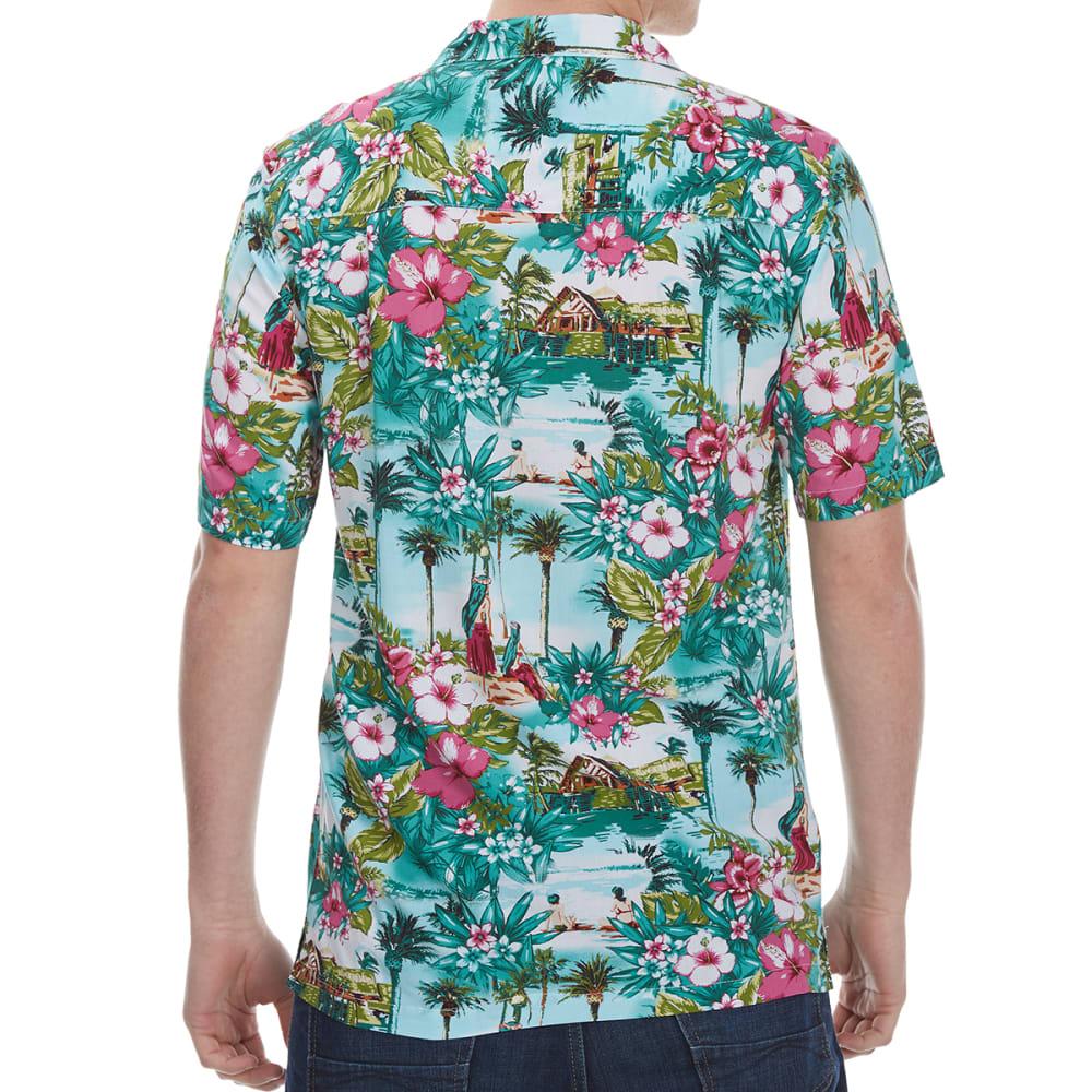 OLIVER & BURKE Men's Printed Rayon Short-Sleeve Shirt - HULA101-GR081