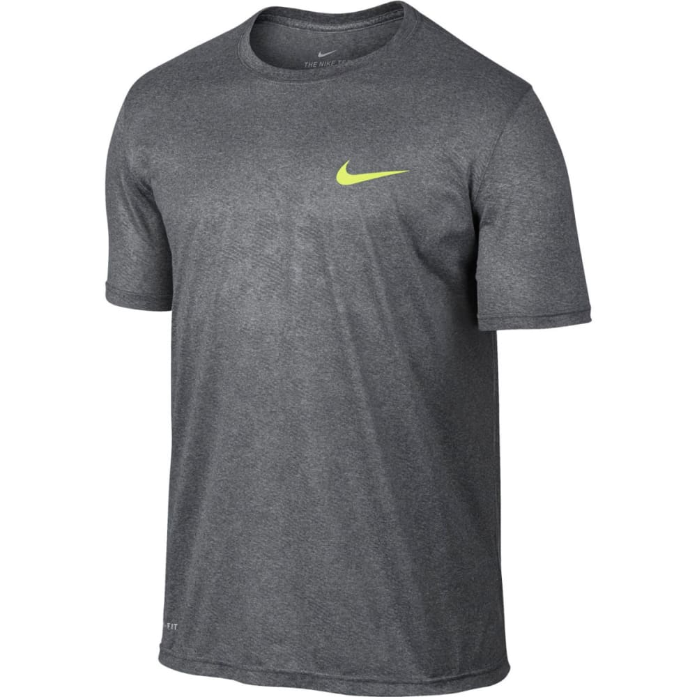 NIKE Men's Legend Digi Camo Short-Sleeve Tee - CARBON HTHR/VOLT-091