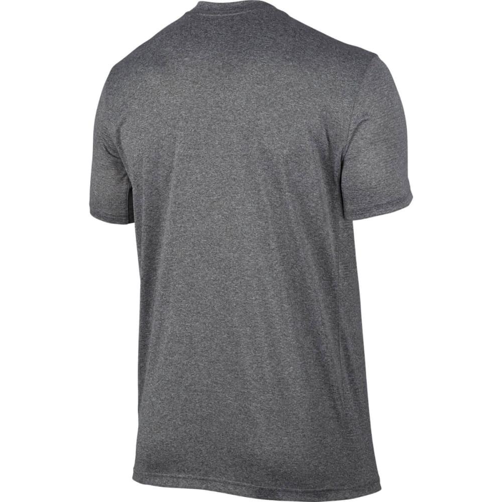NIKE Men's Dry Legend Deboss Graphic Short-Sleeve Tee - CARBON/BLACK-091