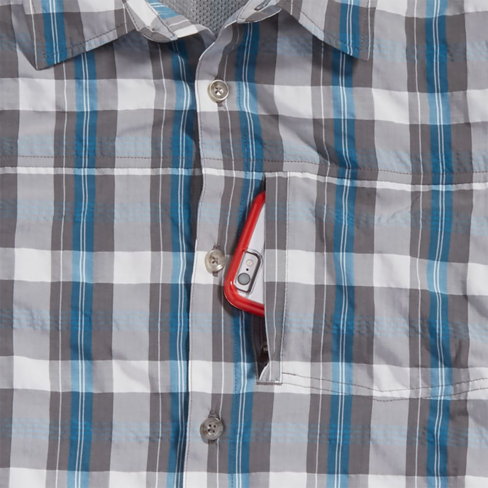 EMS® Men's Journey Plaid Short-Sleeve Shirt - METHYL BLUE
