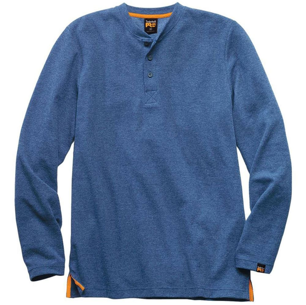 TIMBERLAND PRO Men's Long Sleeve Knit Henley - DENIM INDIGOHTHR E03