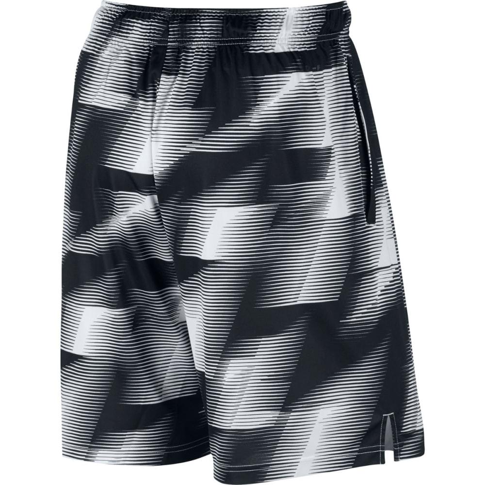 NIKE Men's 9 in. Dry Warp Printed Training Shorts - BLACK/WHITE-010