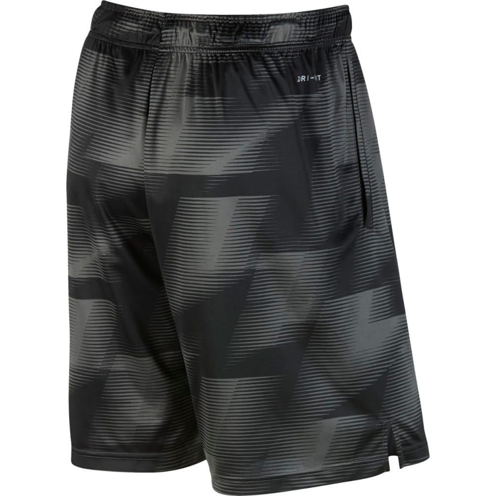 NIKE Men's 9 in. Dry Warp Printed Training Shorts - MIDNIGHT FOG/BLK-038