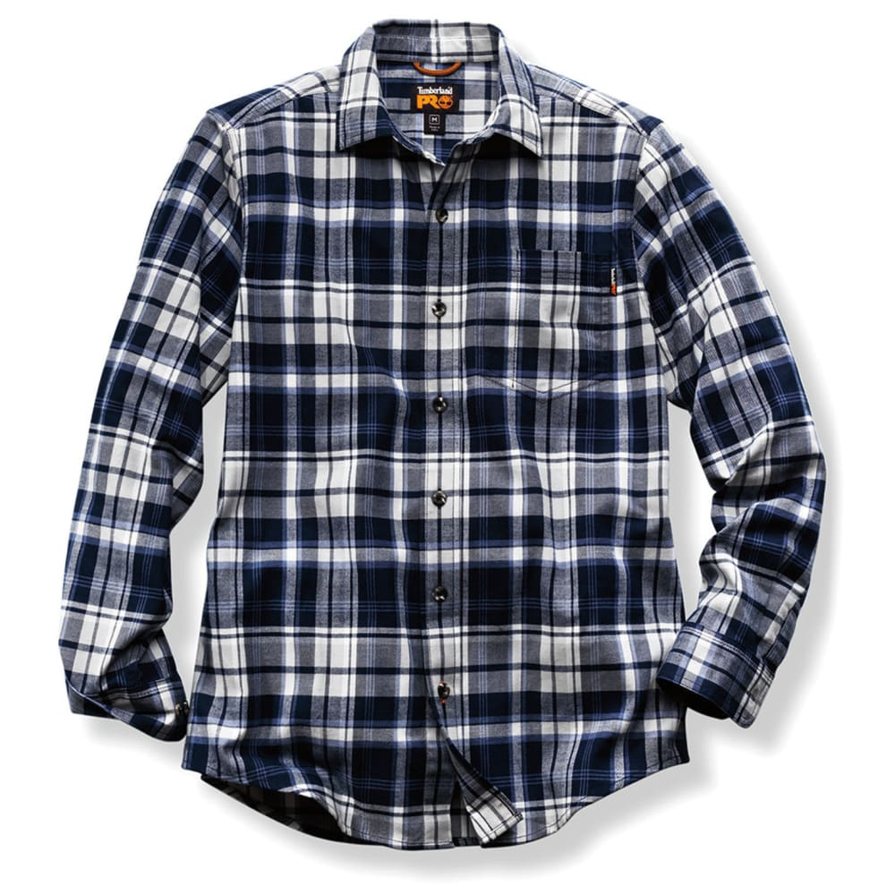 TIMBERLAND PRO Men's R-Value Flannel Long-Sleeve Work Shirt - E04 NAVY PLAID