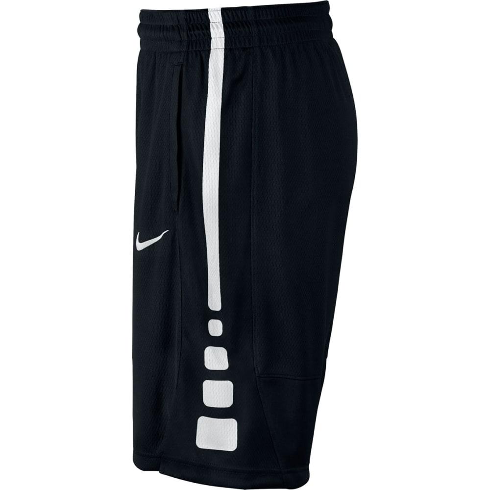 NIKE Men's Elite Stripe Basketball Shorts - BLACK/WHITE-010