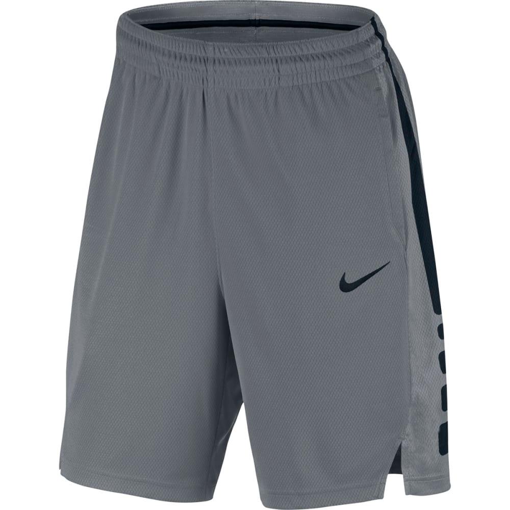 NIKE Men's Elite Stripe Basketball Shorts - COOL GREY/BLACK-065