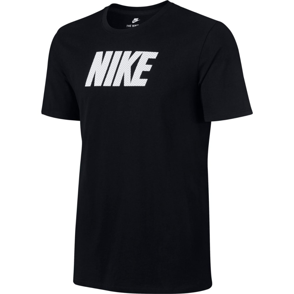 NIKE Men's Herringbone Short-Sleeve Tee - BLACK/WHITE-010