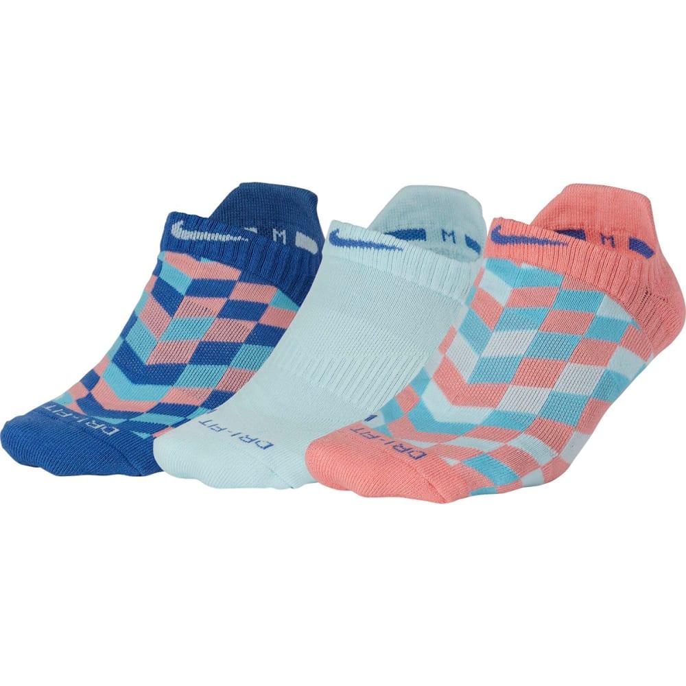 NIKE Women's Dri-FIT Graphic No-Show Training Socks, 3-Pack - MULTI-COLOR GRAPHIC