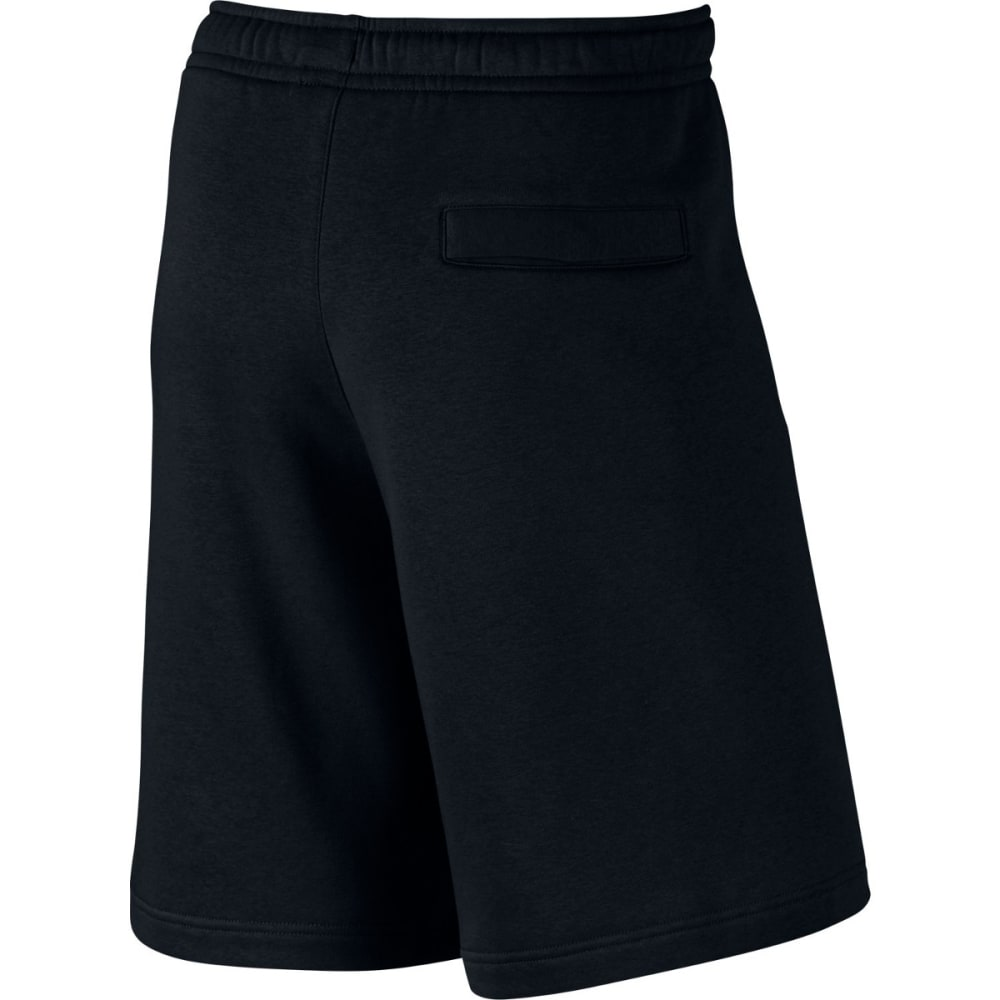 NIKE Men's Club Fleece Sweatshorts - BLACK/WHITE-010