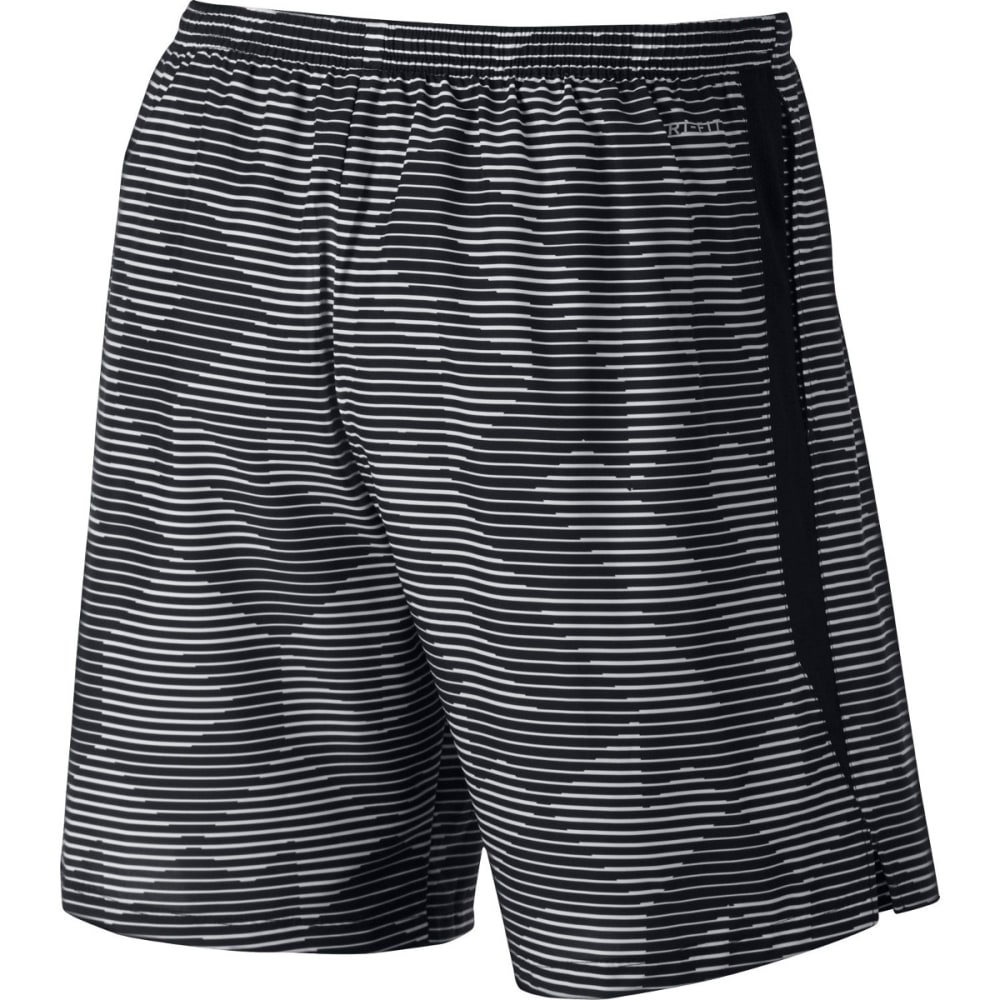 NIKE Men's 7 in. Dri-FIT Challenger Printed Shorts - BLACK-010