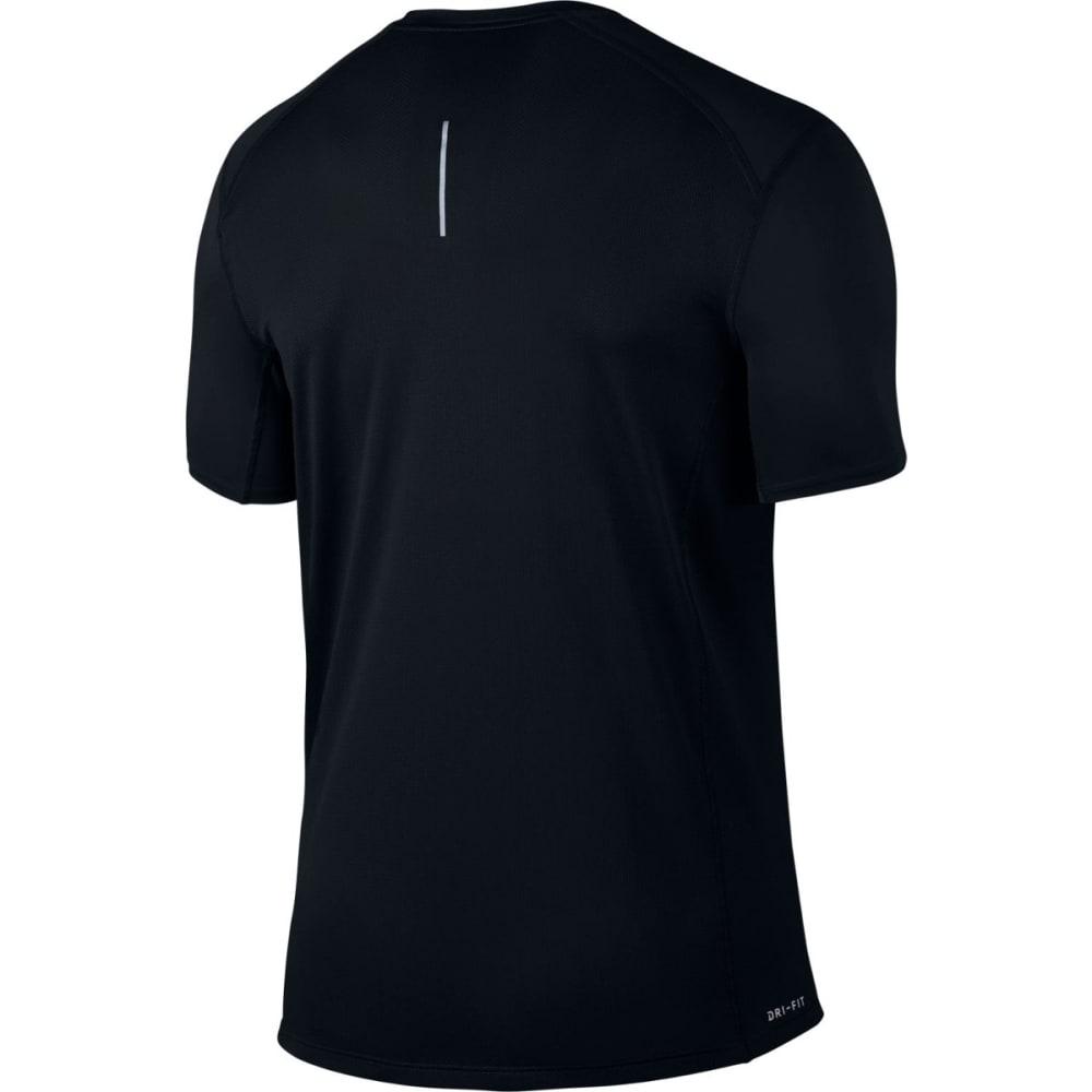 NIKE Men's Miler Short-Sleeve Running Top - BLACK-010