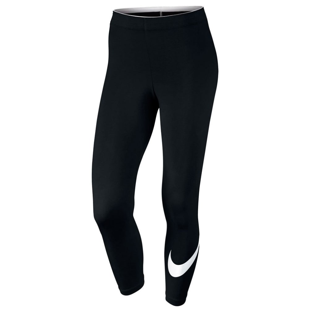 NIKE Women's Sportswear Club Logo Cropped Leggings - BLACK 001
