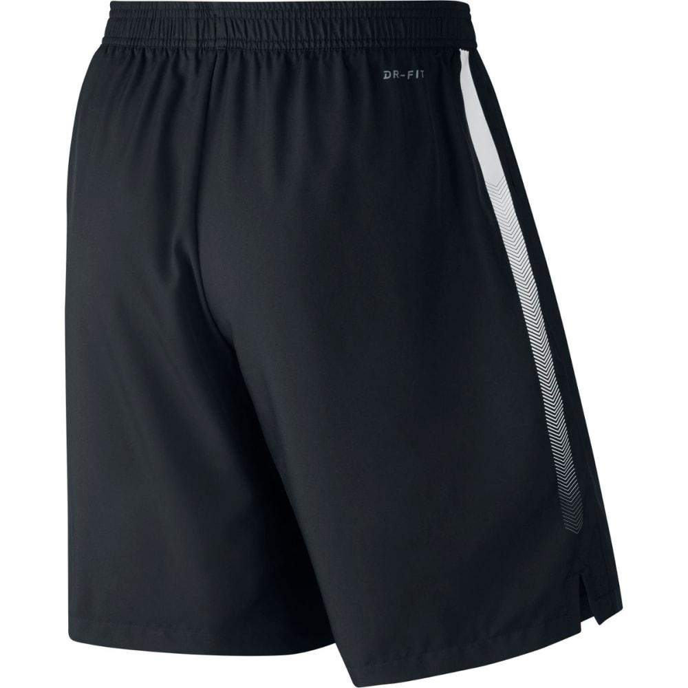 NIKE Men's NikeCourt Dry Tennis Shorts - BLACK/WHITE-010
