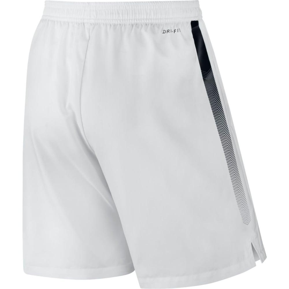 NIKE Men's NikeCourt Dry Tennis Shorts - WHITE/BLACK-100