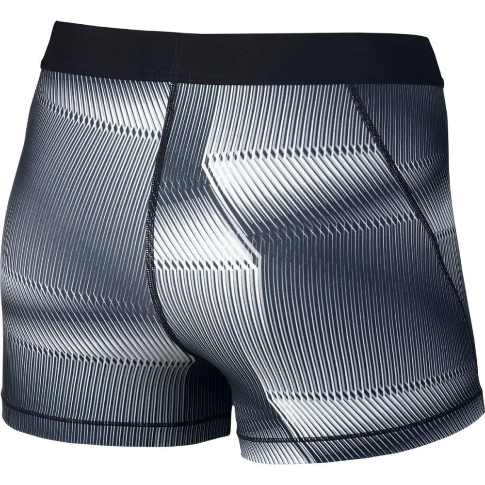 NIKE Women's Pro Cool Pyramid Print Training Shorts - BLACK/WHITE-010