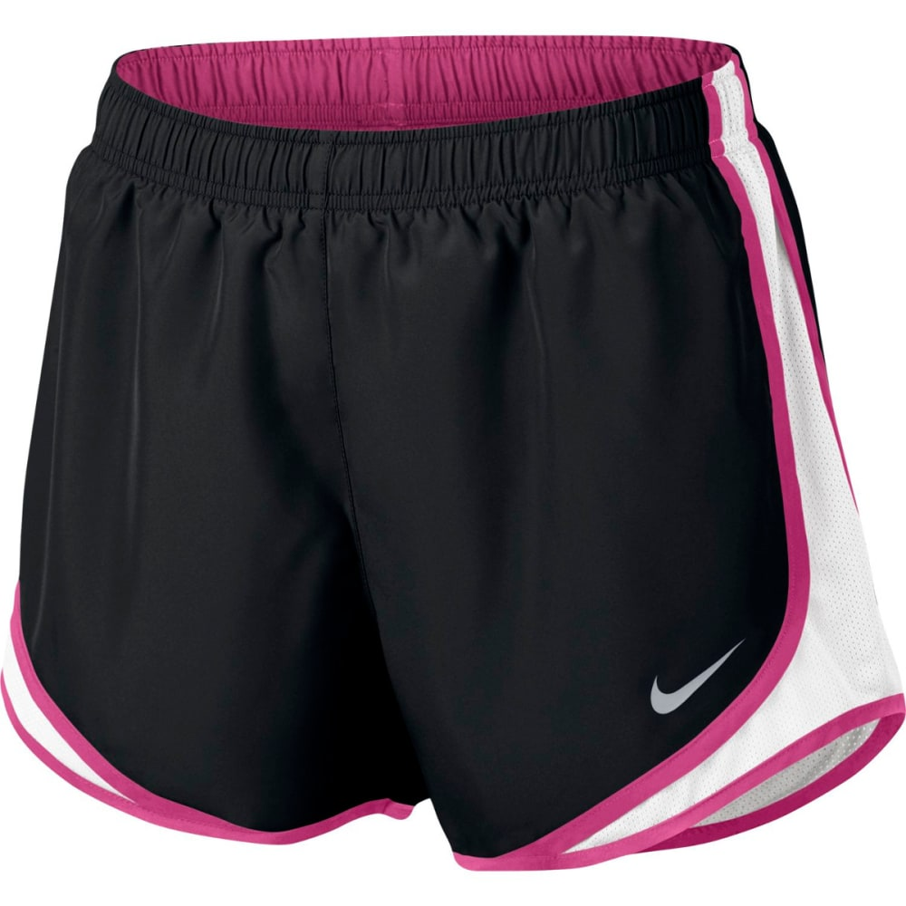 NIKE Women's 3 in. Tempo Running Shorts - BLK/WHT/PINK/GRY-020