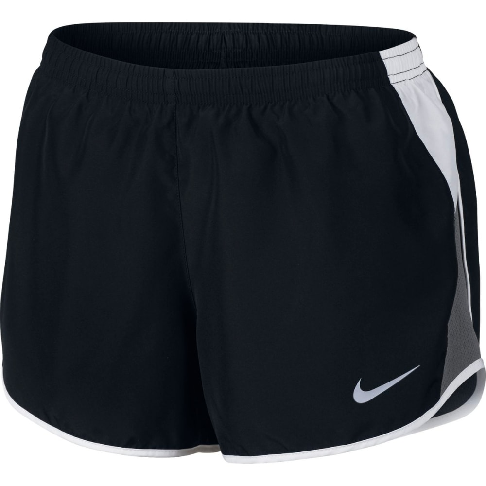 NIKE Women's Dry Running Shorts - BLACK/WHITE-010