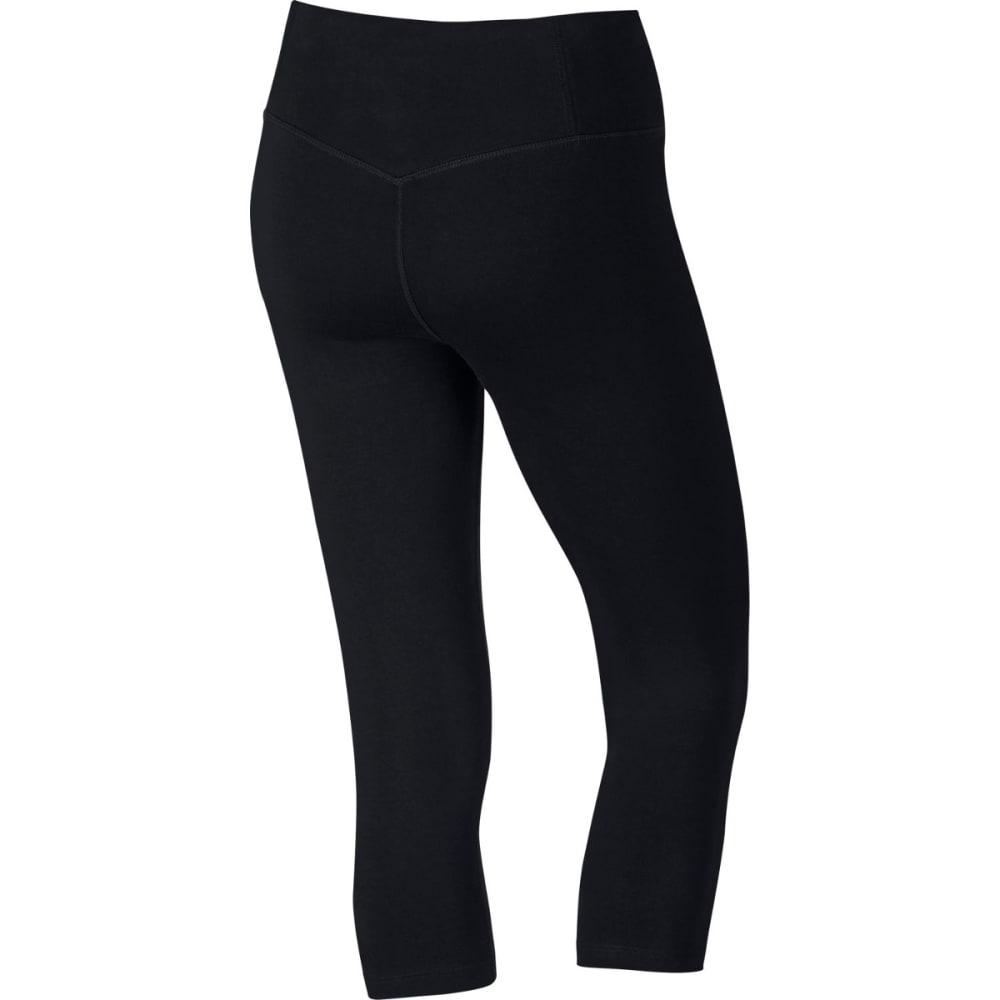 NIKE Women's Dri-FIT Flex GPX Training Capri Tights - BLACK/WHITE-010