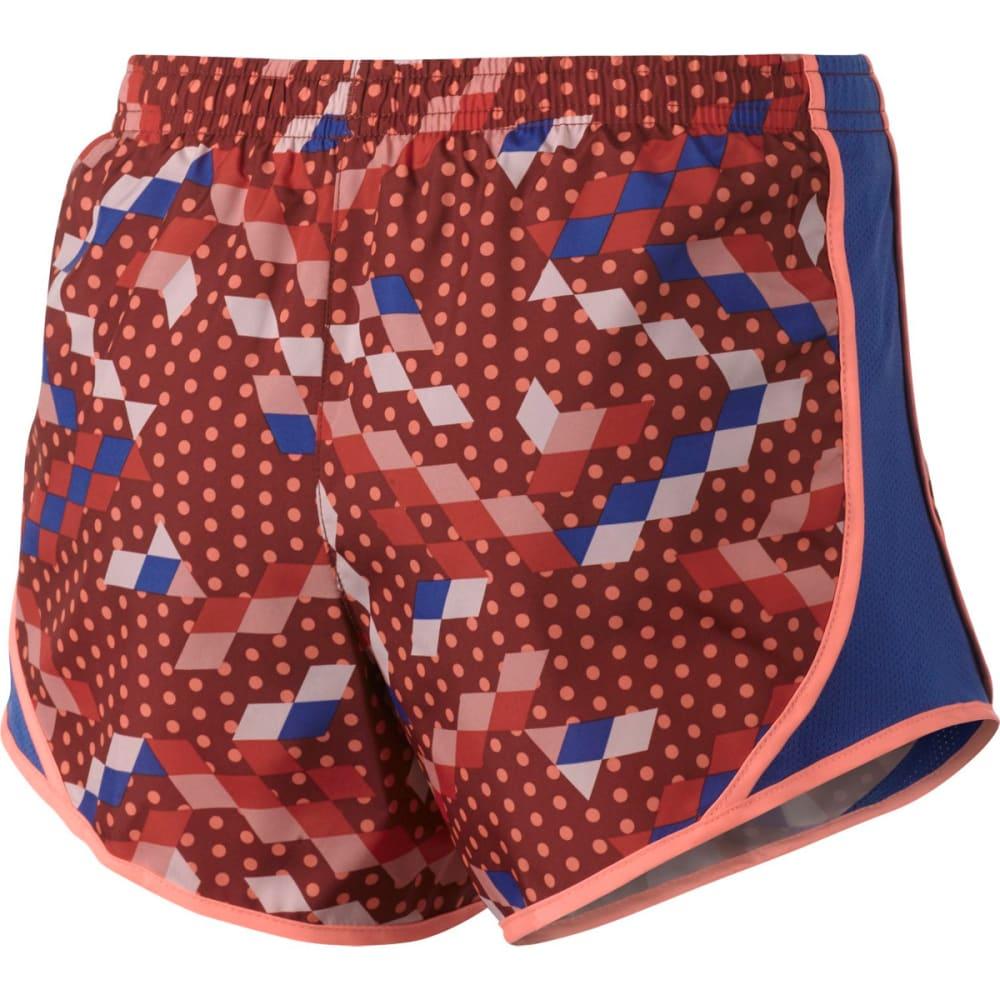NIKE Big Girls' Dry Tempo AOP Running Shorts - DARK CAYENNE