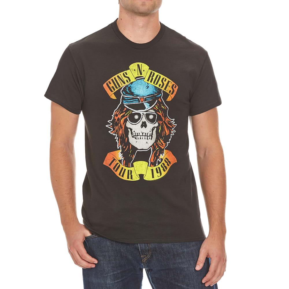 BRAVADO Guys' Guns N' Roses Appetite for Destruction Tour 1988 Tee - BLACK