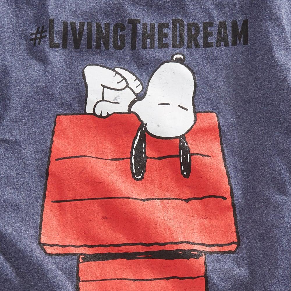 HYBRID Guys' Peanuts Living the Dream Short-Sleeve Tee - HTR NAVY