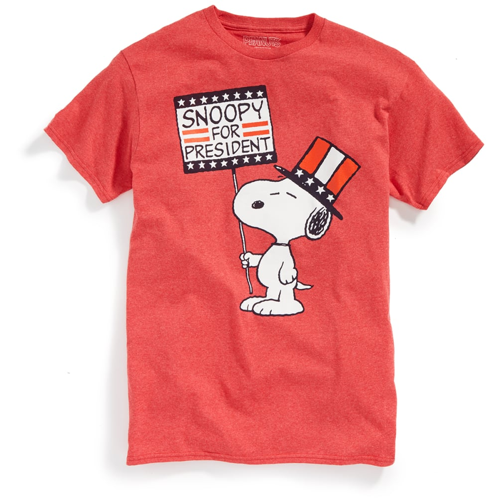 HYBRID Guys' President Snoopy Short-Sleeve Tee - HTR RED