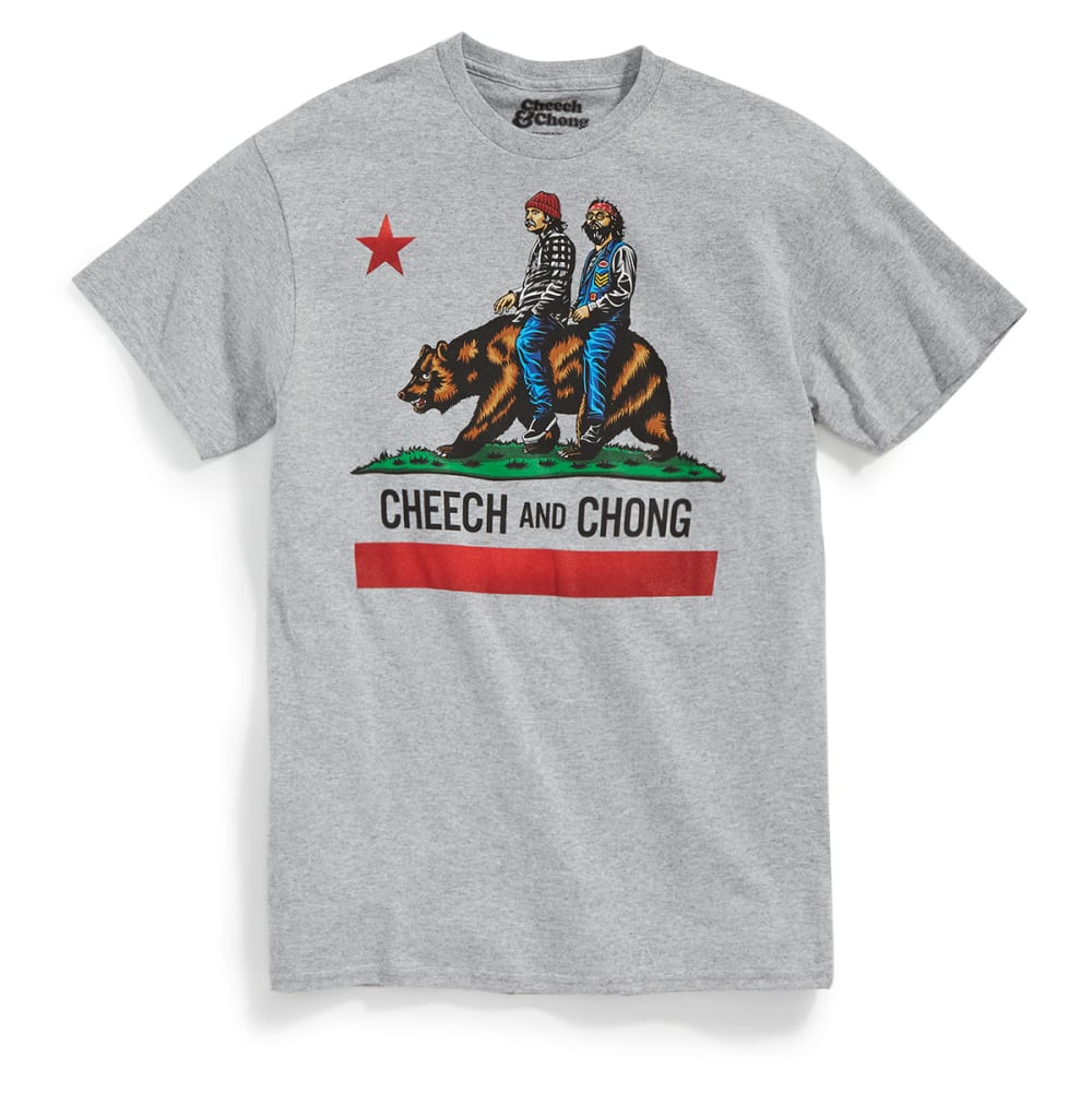 HYBRID Guys' Cheech & Chong California Best Buds Short-Sleeve Tee - HTR GRY